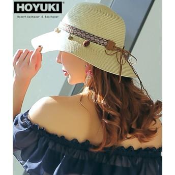 ANAP(アナップ)HOYUKIチャーム付き麦わら帽子