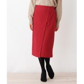 OPAQUE.CLIP ウールブレンドラップナロースカート