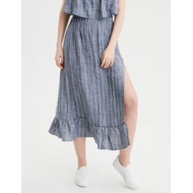 アメリカンイーグル レディース スカート ボトムス AE High-Waisted Striped Midi Skirt Blue