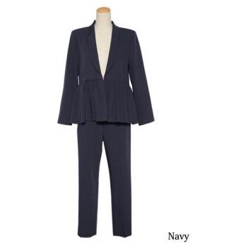 [マルイ]【セール】パンツ ジャケット セットアップ フォーマル スーツ ブラックフォーマル 喪服 結婚式 卒園式/クリーム(C.R.E.A.M)