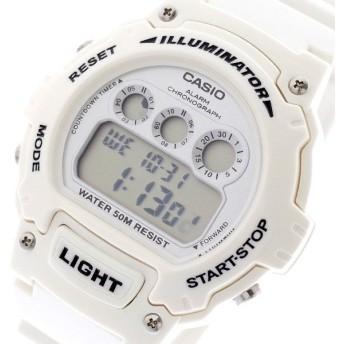 カシオ CASIO 腕時計 メンズ W-214HC-7BV クォーツ シルバー ホワイト ホワイト