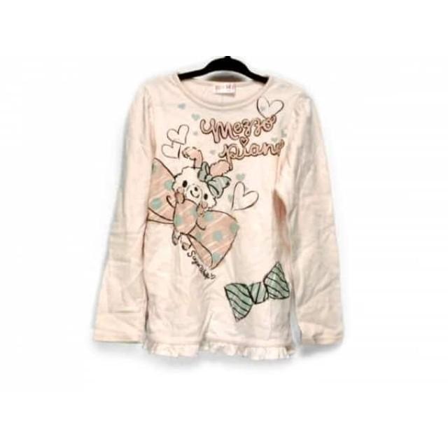 【中古】 メゾピアノ mezzo piano 長袖Tシャツ サイズ120 レディース ピンク ライトブルー マルチ