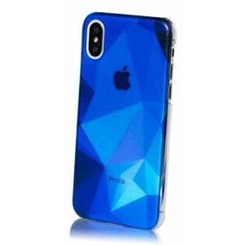 MRLab iPhoneXSケース iPhoneXケース ハードケース おしゃれ カッコイイ ポリゴン sea 青 紺 867