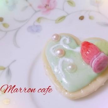 ハート型 ️抹茶アイシングクッキー(スイーツデコ)