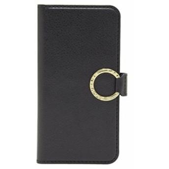 [CASEBANK] リング付き 手帳 ケース iPhone SE / 5s / 5 落下防止 実用新案取得済 スマホ カバー (ブラック) Y5-R