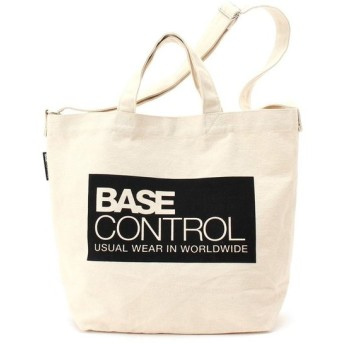 BASE CONTROL ベースコントロール 2way ロゴプリント トートバッグ 大