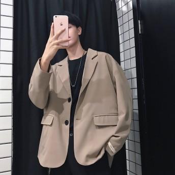 2019新品 メンズ テーラードジャケット アウター コート 春秋 長袖 上質 韓国ファッション