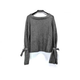 【中古】 ガリャルダガランテ GALLARDAGALANTE 長袖セーター サイズF レディース 美品 ダークグレー