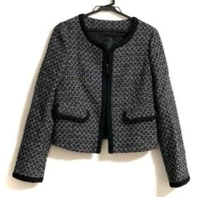 【中古】 アンタイトル UNTITLED ジャケット サイズ2 M レディース 黒 白 グレー ツイード