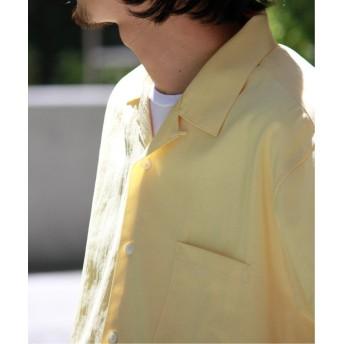 【50%OFF】 ジャーナルスタンダード ストレッチウォッシャブルLIGHT オープンカラーシャツ メンズ イエローE M 【JOURNAL STANDARD】 【セール開催中】
