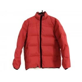 【中古】 ポールスミス PaulSmith ダウンジャケット サイズM メンズ レッド 黒 ジップアップ/冬物