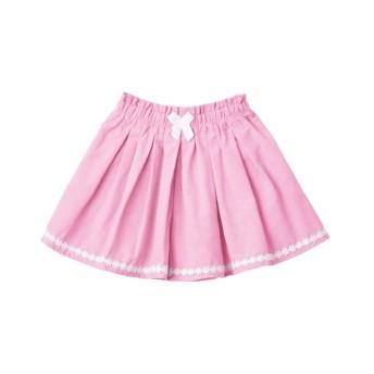 シャンブレー裾レース付キュロット(女の子 子供服) キュロット・パンツインスカート・スカート