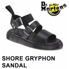 正規品 ドクターマーチン グリフォン サンダル メンズ レディース ストラップサンダル レザー ブラック 黒 Dr.Martens GRYPHON 15695001