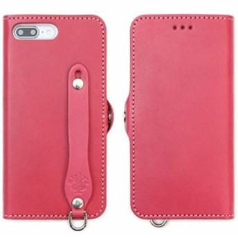 EFG タイプ iPhone 8 Plus/iPhone 7 Plus 手帳型 レザー ケース ノーマルタイプ ピンク 【右開き】 iphone8pl