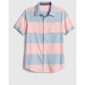Gap ストライプ半袖ニットシャツ