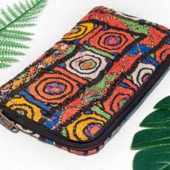 母の日バレンタインの日ギフト新年の贈り物国の風の森クリスマスプレゼント手刺繍の財布国の風ロングクリップ刺繍財布手作りの古代の布ロ