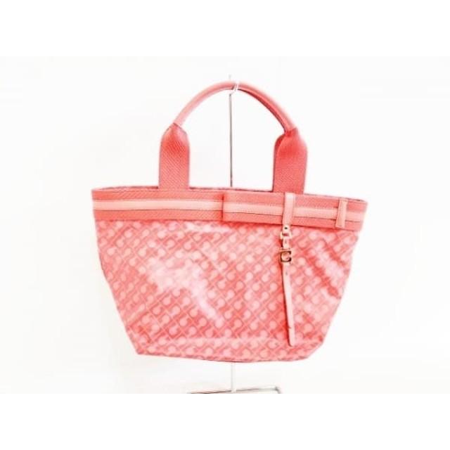 【中古】 ゲラルディーニ GHERARDINI ハンドバッグ レッド ピンク PVC(塩化ビニール) レザー