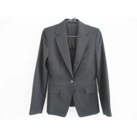 【中古】 アンタイトル UNTITLED ジャケット サイズ2 M レディース 黒 グレー ストライプ