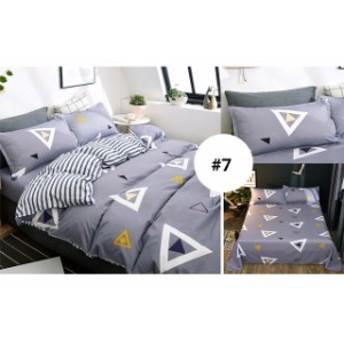 掛布団カバー キング 4点セット 布団カバー ベッド用品 掛け布団カバー+ベッドシーツ+枕カバー2枚 洗い替え用寝具カバーセット