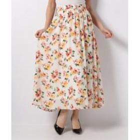 花柄JZギャザーロング/スカート