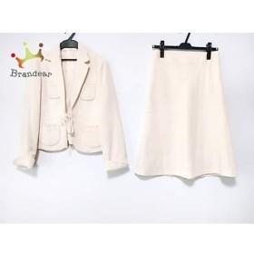 アナイ ANAYI スカートスーツ サイズ38 M レディース アイボリー×白   スペシャル特価 20190624
