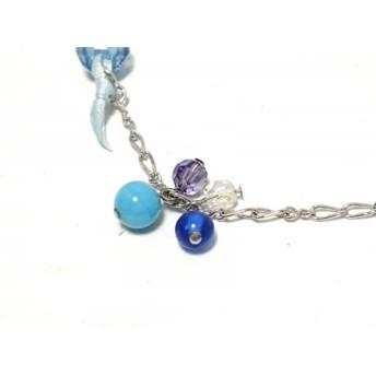 【中古】 アナスイ ANNA SUI ネックレス 金属素材 プラスチック シルバー ブルー