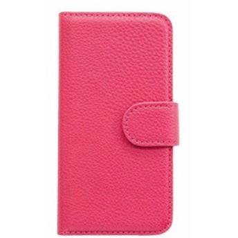 iPhone5/5S用 定番!PUレザー手帳型ケース 【ピンク】 iPnone5/5s アイフォン5/5s カバー