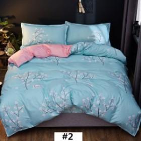 送料無料 選べるベッドカバーセット しわになりにくく 乾きが早い シングル 4点 掛布団カバーベッドベッドシーツ枕カバー2枚