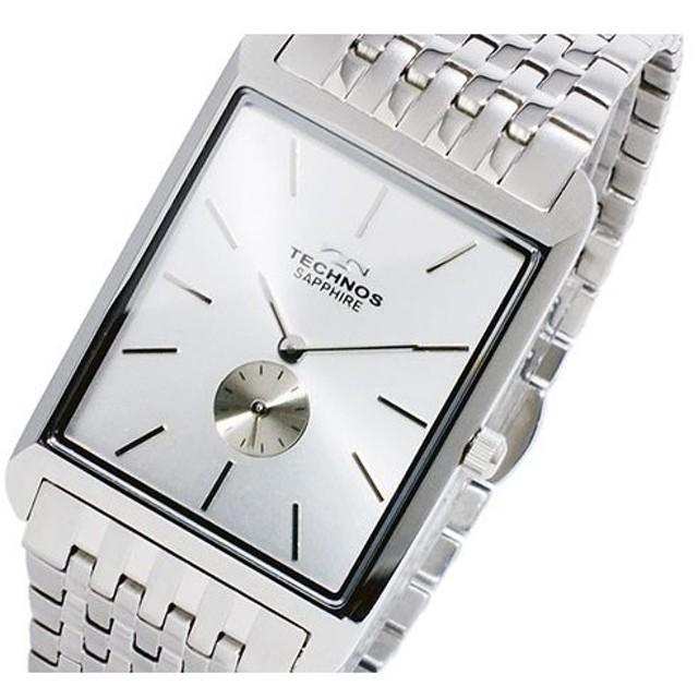 ae7d86ce38 テクノス TECHNOS クオーツ メンズ 腕時計 T9268SS シルバー シルバー ...