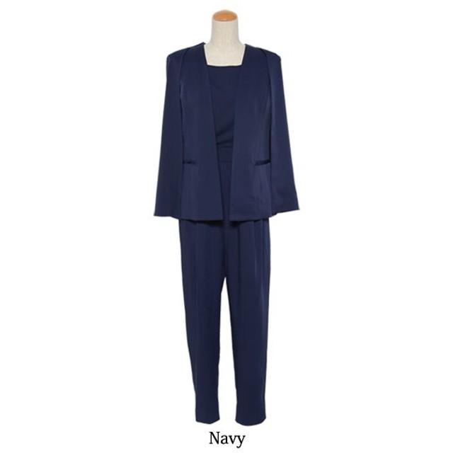 [マルイ]【セール】オールインワン パンツ スーツ ジャケット セットアップ フォーマル スーツ 結婚式 喪服/クリーム(C.R.E.A.M)