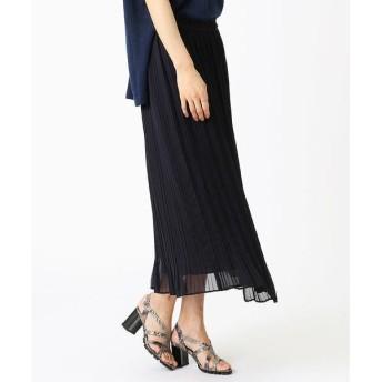 COMME CA / コムサ シルキージョーゼット スカート