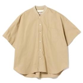 L'ATALIER / リブ ノーカラーシャツ メンズ カジュアルシャツ BEIGE L