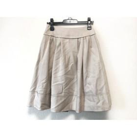 【中古】 フォクシー FOXEY スカート サイズ38 M レディース ベージュ