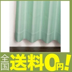 窓美人 ステップLight ドット ストライプ柄カーテン グリーン 2枚組 幅100×丈230cm フック タッセル おしゃれな柄