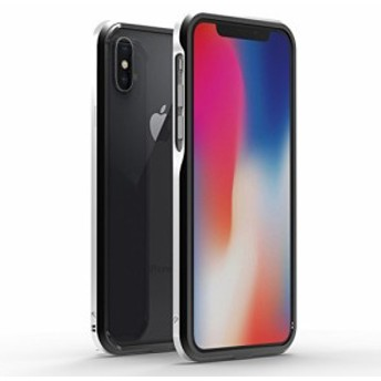 SWORD iPhoneX/iPhone Xs アルミ製メタルバンパー ツートン(iPhoneX/iPhone Xs ブラック x シルバー)