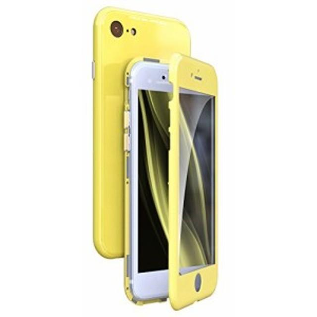 7005117349 iPhone 7 ケース uovon マグネット式 薄型 アイフォン8 ハードケース 強化ガラス背面板 ガラス