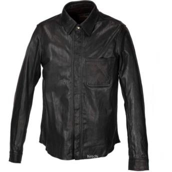 1199-0 カドヤ KADOYA 春夏モデル レザーシャツ STD 黒 Mサイズ JP店