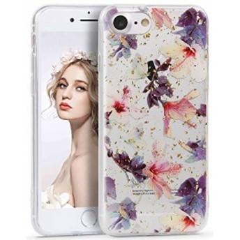 iphone7/8 ケース Imikoko iphone7 ソフトケース iPhone8 cover かわいい ストラップ穴付き 花柄 美しい花 お洒