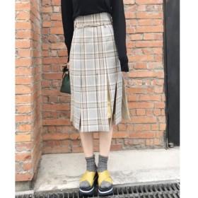 aquagirl / アクアガール オータムチェックブラインドプリーツスカート