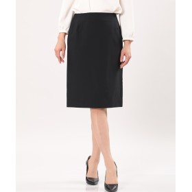 INED ウォッシャブルタイトスカート ひざ丈スカート,ブラック