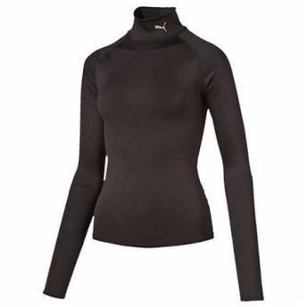プーマ(PUMA) LITE COMPRESSION モックネックロングスリーブシャツ 513171 01 BLK (Lady's)