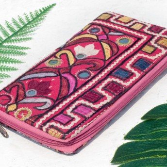 母の日バレンタインの日ギフト新年の贈り物国風森林局誕生日贈り物手刺繍財布国風ロングクリップ刺繍財布手作り古代布ロングクリップ -