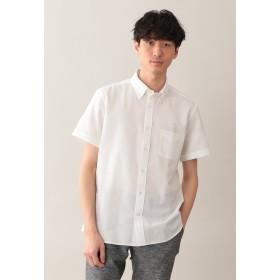 MACKINTOSH PHILOSOPHY 【TROTTER】 シアサッカーファブリック 半袖ボタンダウンシャツ シャツ・ブラウス,ホワイト