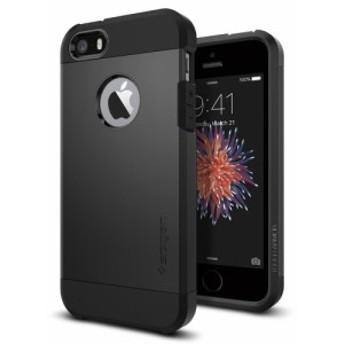iPhone SE ケース iphone5s/5 カバー spigen タフ アーマー ブラック Tough Armor Black 041CS20189/スマホケース 5s