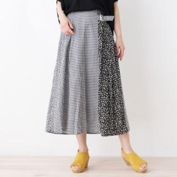 [マルイ]【セール】【洗える】サイドフラワープリーツスカート/サンカンシオン(レディス)(3can4on Ladies)
