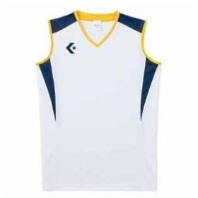 コンバース レディースゲームシャツ(ホワイト/ ネイビー・M) CONVERSE CB351701-1129-M 返品種別A