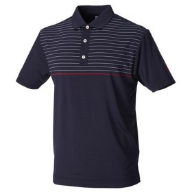 フットジョイ(FootJoy) ゴルフウェア メンズ S18S24 ピンストライプメッシュバックシャツNV 85623NVメンズ 半袖 (Men's)