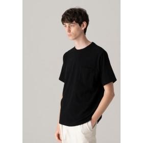 MACKINTOSH PHILOSOPHY 【WEB限定】ランダムパイル クルーネックポケT Tシャツ・カットソー,ブラック