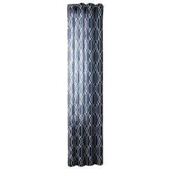 メタルグロメット 半遮光 ドアカーテン、窓カーテン、バルコニーカーテン 家庭/店舗用 窓の背景 装飾 52x63インチ 全3色 - ダークブルー
