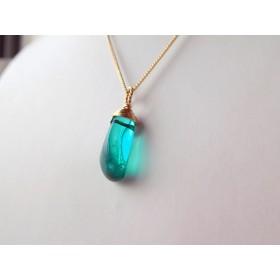 水晶のネックレス【Blue Green Crystal】